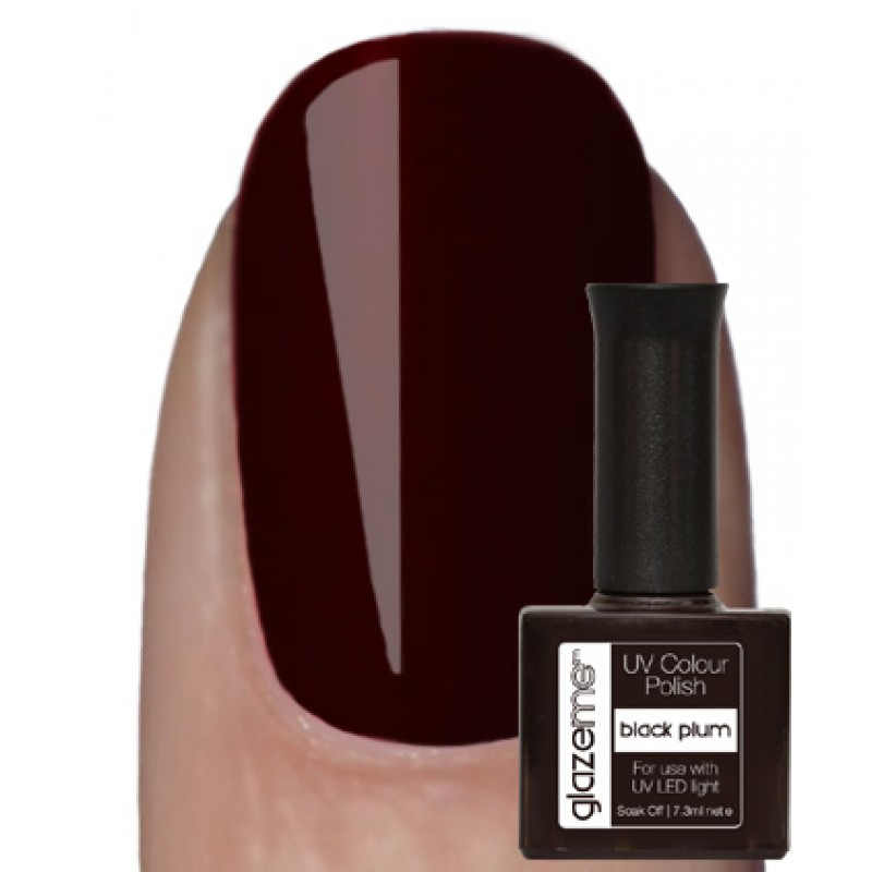 GlazeMe Black Plum Gel Polish