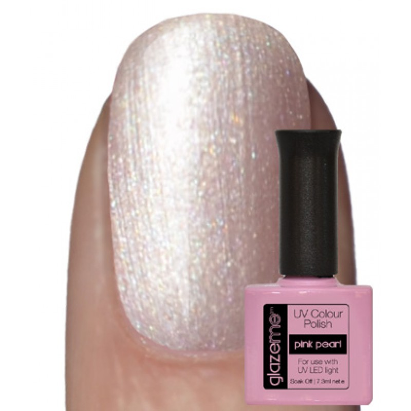 GlazeMe Pink Pearl Gel Polish