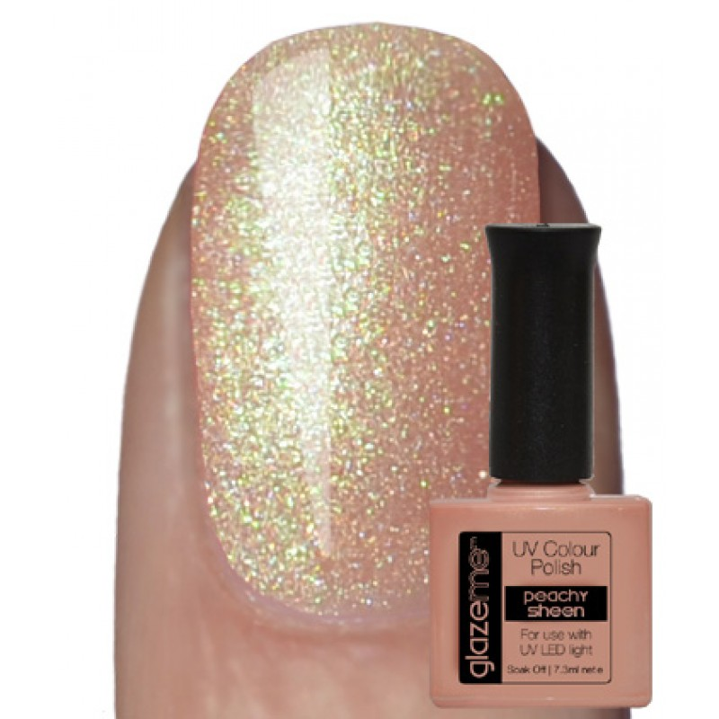 GlazeMe Peachy Sheen Gel Polish