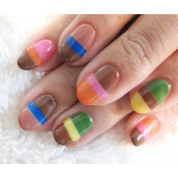Cool Color Stripe Nail Designs