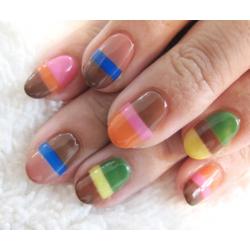 Cool Color Stripe Nail Designs