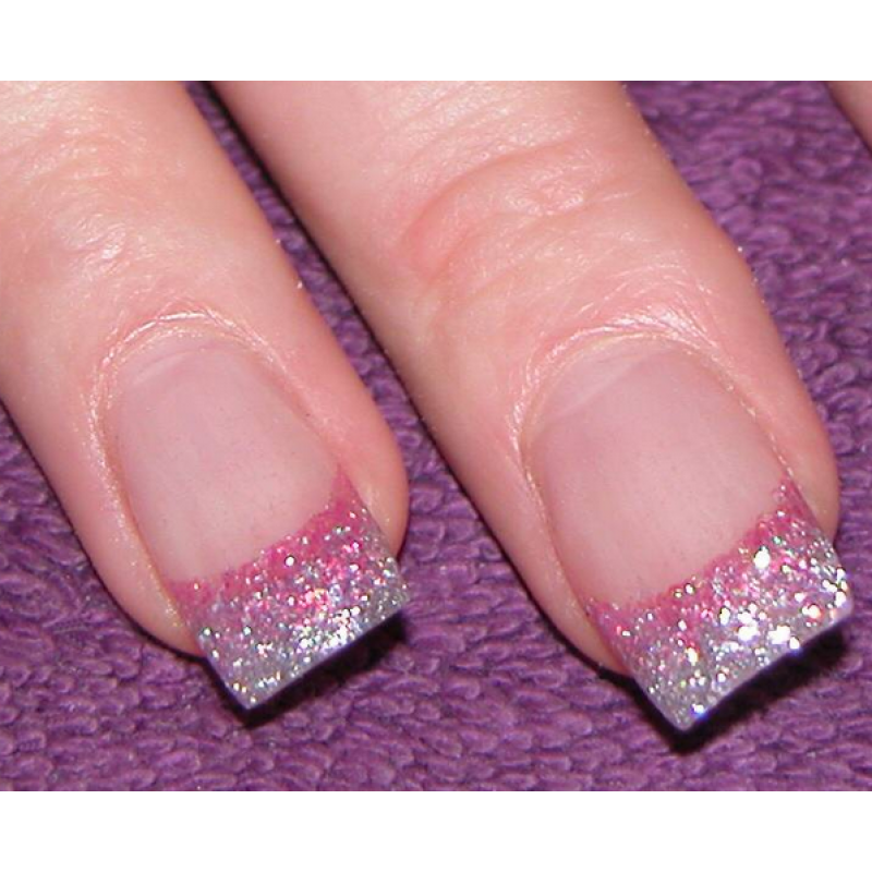 - Cool Pink Glitter Nail Design Ideas