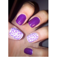 Flashy Purple Nail Designs
