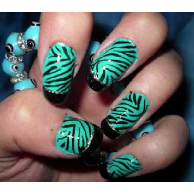Nail Art Zebra Stripes: Zebra Nail Art Design Ideas