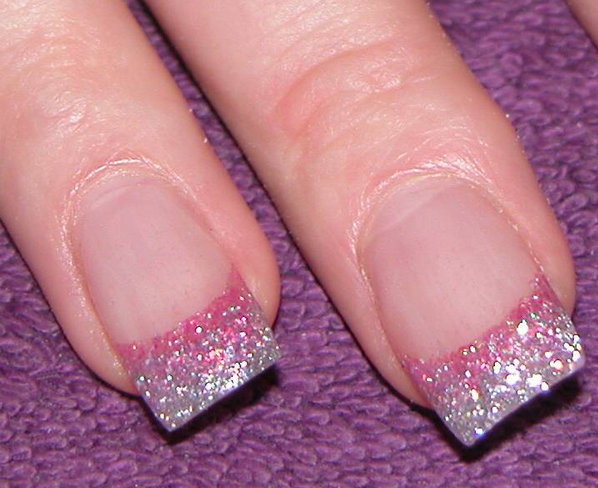 ... for your pink glitter nail design, such as using little glitter, using  glitter on certain nails or in combination with other colors. - Cool Pink Glitter Nail Design Ideas