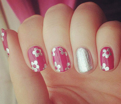 Pink Nail Art Design Ideas