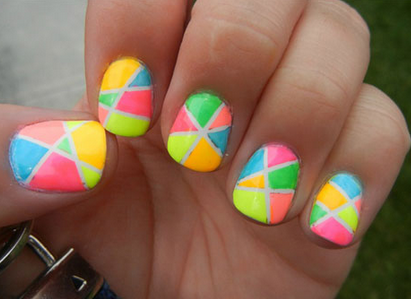 Nail art design for short nails if you really like colorful nails for your short nails then this will definitely be something you adore each nail has a different design and uses about 6 prinsesfo Gallery