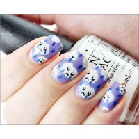 Easy Sad Cloud Winter Nail Art Tutorial