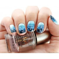 No Sponge Winter Gradient Nail Art Tutorial